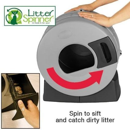 Litter Spinner Quick Clean Cat Litter Box Review