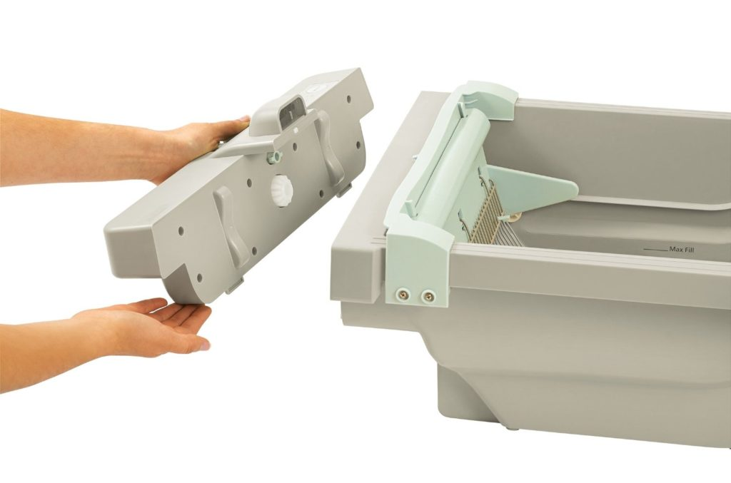motor arm and hammer litter box